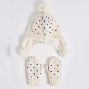 Marks & Spencer Accessories - Marks & Spencer Baby Trapper Hat & Mittens